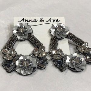 Anna & Ava Shades of Gray Bead & Sequin Earrings
